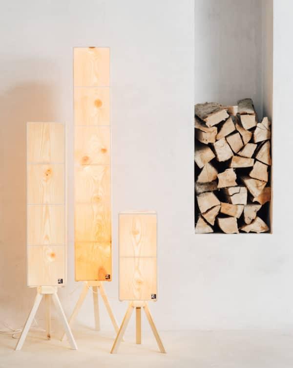 ZirbenLuefter-Luftreinger-Luftbefeuchter-Lamp-Furnierlampe-Stimmungslampe